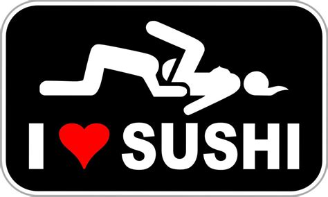 I Love Sushi Aufkleber by I Love Sushi Funny Decal Funny Stickers 5 Quot Ebay