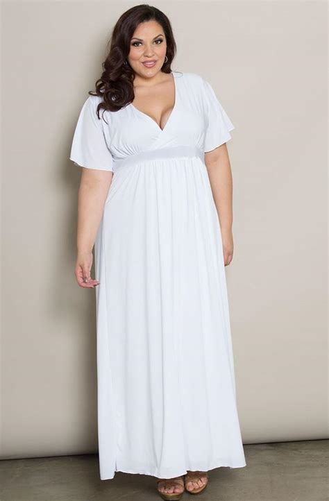 white maxi dress plus size all white maxi dress plus size pluslook eu collection