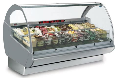 Freezer Gelato gelato display freezer the gelatoshow by isa