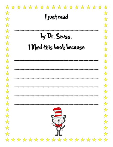 Dr Seuss Essay by Literacy Minute Quot I Just Read Dr Suess Quot Freebie
