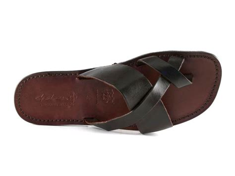 mens leather sandals made in italy handmade real leather thongs sandals for mens made in