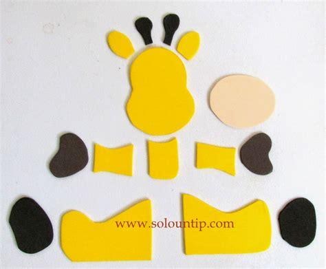 imagenes de jirafas en foami manualidades por d 237 a del ni 241 o en goma eva solountip com