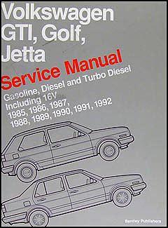 service manual vehicle repair manual 1988 volkswagen golf 1985 1992 vw gti golf and jetta bentley repair shop manual