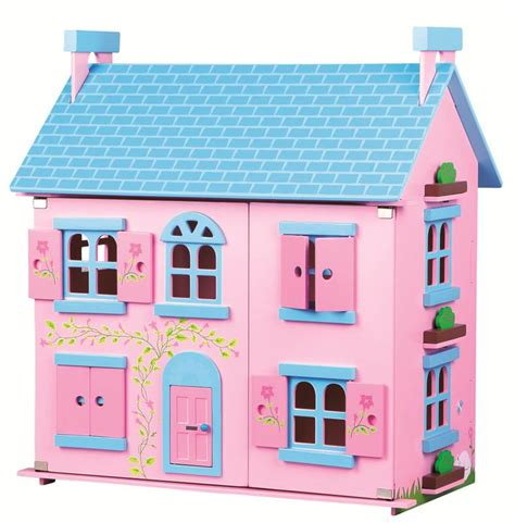 girls wooden dolls house lelin wooden sweetie pink doll house playhouse girls children playhome 3 storey