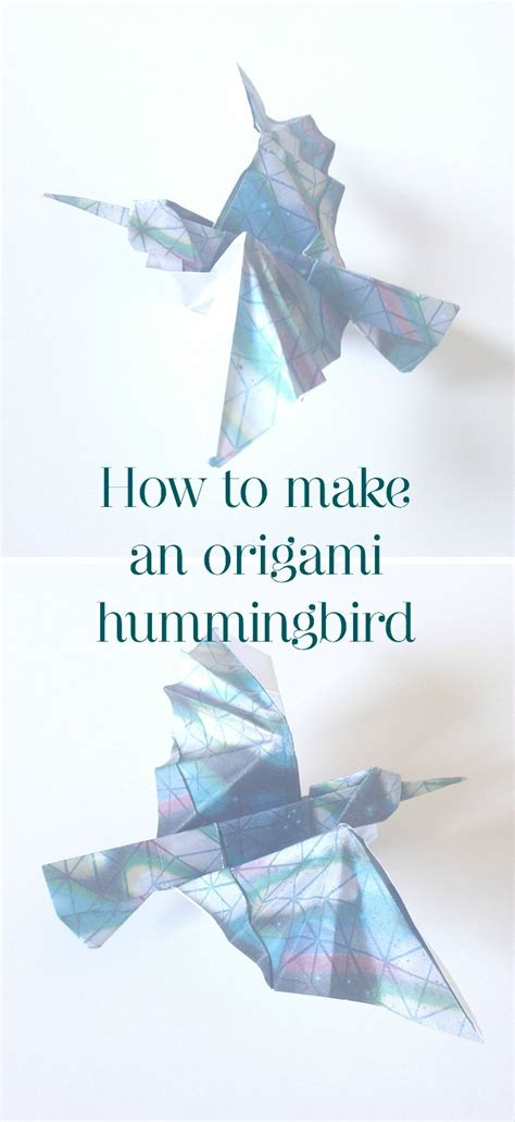Origami Hummingbird Tutorial - how to make an origami hummingbird the paperdashery