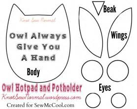 owl templates for sewing owl always give you a free pad and potholder
