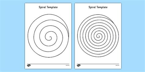 spiral template eyfs ks1 early years shapes scissor