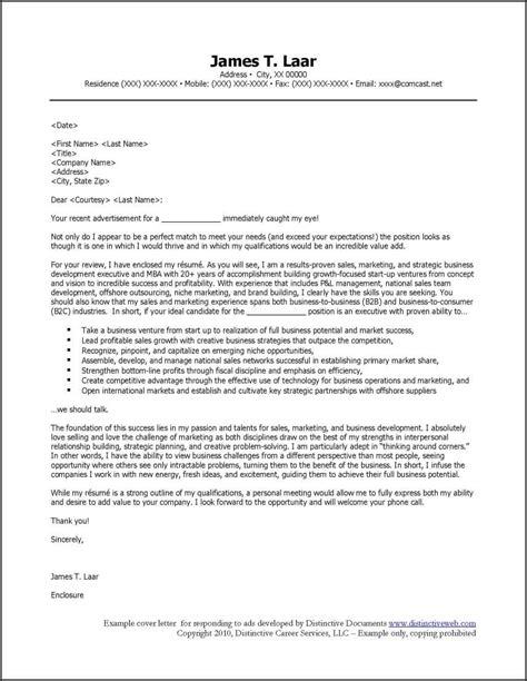 Exle Letter Answering Request Cover Letter To Respond To Ads
