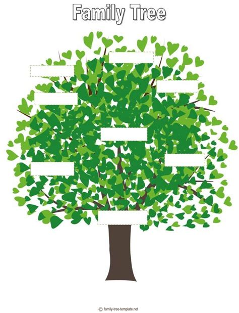 family tree template for kids family tree for kids template auction project ideas