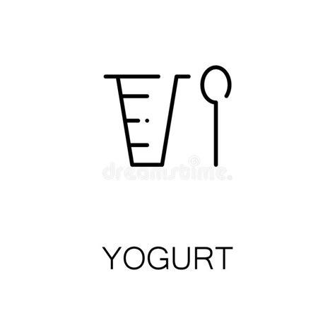 yogurt flat icon  logo  web design stock vector