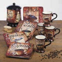 kitchen theme decor sets these dishes cocoa coffee