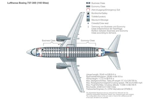 seat map boeing 737 300 lufthansa magazin