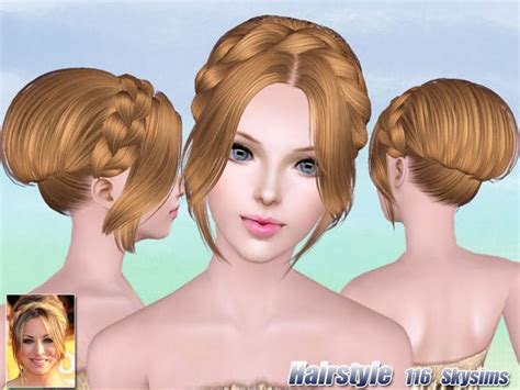 the sims 3 free custom content hair colors braided crown bun hairstle 116 by skysims sims 3 hairs