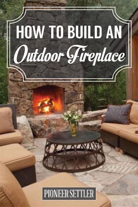 build  outdoor fireplace homesteading