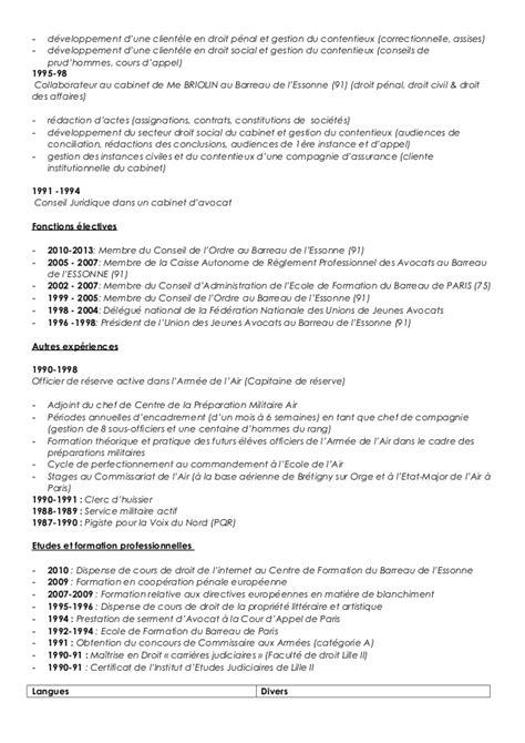 modele cv avocat collaborateur cv anonyme