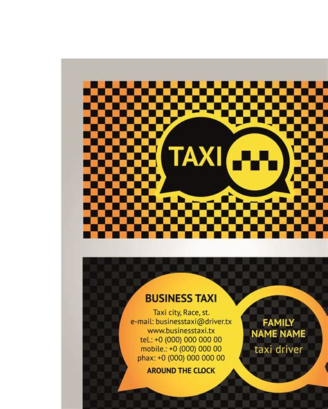 Business Card Template For Taxi Driver by Awesome Pictures Of Taxi Driver Business Card Business