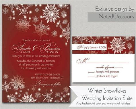 Winter Wedding Invitation Printable Set Christmas Wedding Invitations Ornament Winter Wedding Winter Wedding Invitation Templates