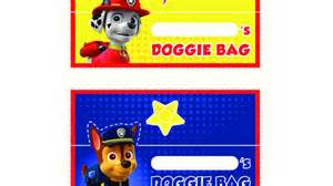 paw patrol paw patrol doggie bag toppers colouring pages preschoolers nick jr uk