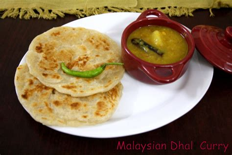 malaysian vegetable lentil curry vegetable dal  roti