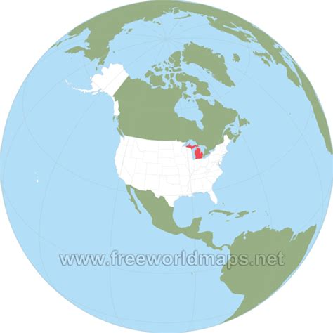 michigan in world map where is michigan located on the map
