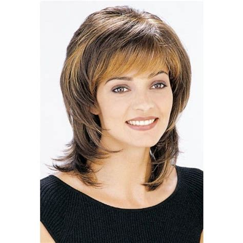 feathered hair around face how to shelly is a straight light bodied shag that can be