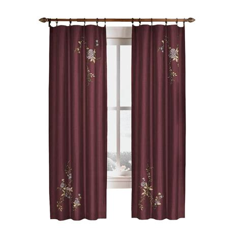 curtain works reviews curtainworks eggplant asia faux silk rod pocket curtain