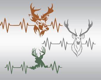 Deer Heartbeat deer svg cutting file svg heartbeat buck svg png
