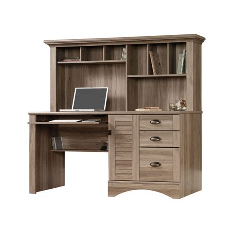 sauder harbor desk with hutch sauder harbor view computer desk with hutch reviews