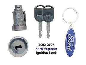 ford explorer 2002 thru 2007 ignition lock cylinder with 2
