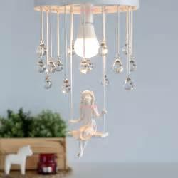Girls Chandelier Light Nordic Modern Aisle Crystal Ceiling Chandelier Light Sweet