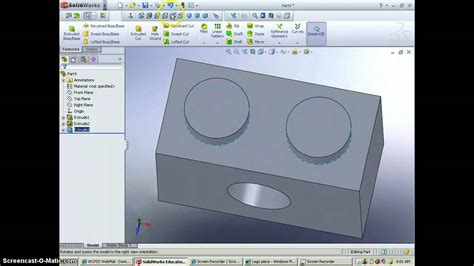 lego tutorial solidworks solidworks tutorial draw a lego youtube