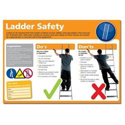 Stair Safety Poster by Ladder Safety Poster Photographic Puresafety