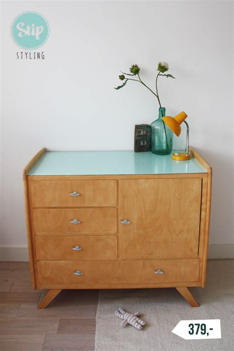 commode retro retro commode met blad in mint stip styling