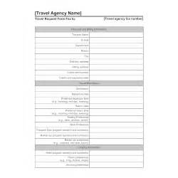 Credit Application Form Travel Agency Travel Agency Form