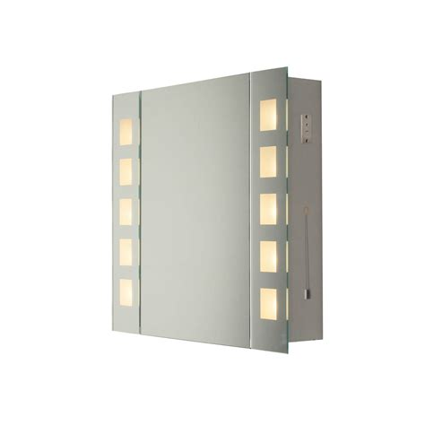 dar zen99 zenia 10 light bathroom mirror cabinet light