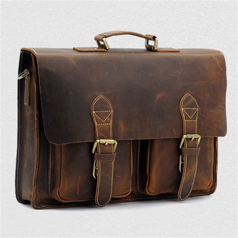 Handmade Leather Briefcases - s handmade vintage leather briefcase leather