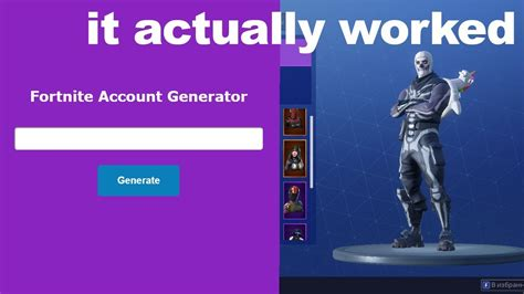 fortnite account generator i used a fortnite account generator and it actually