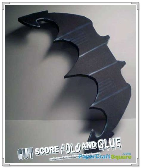 How To Make A Paper Batman Batarang - batman batarang papercraft keaton version
