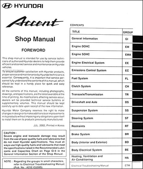 service manual free online auto service manuals 1995 hyundai accent seat position control