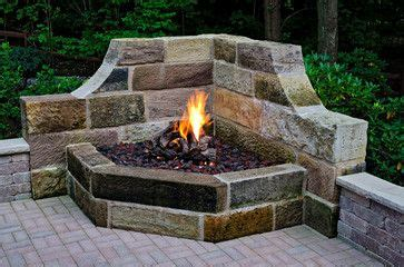 Gas Powered Fireplace by This Gas Powered Fireplace Sits In The Corner Of A Patio