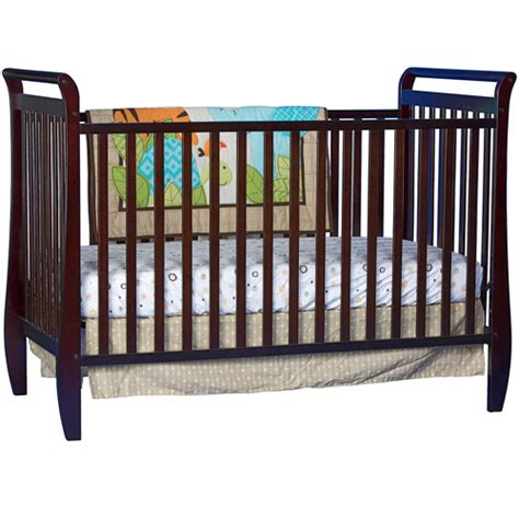 Sleigh Convertible Crib Storkcraft Sleigh 2 In 1 Fixed Side Convertible Crib Espresso Walmart