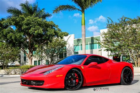 ferrari 458 wheels rosso corsa ferrari 458 italia with strasse wheels gtspirit