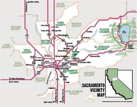 map of sacramento area sacramento real estate and market trends