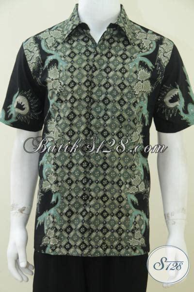 Kemeja Batik Pria Hl 244 kemeja batik tulis pria motif unik keren dan elegan