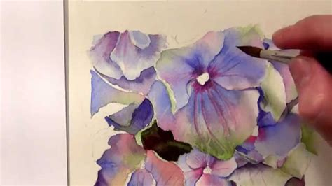 watercolor hydrangea tutorial how to paint hydrangeas in watercolor online tutorial