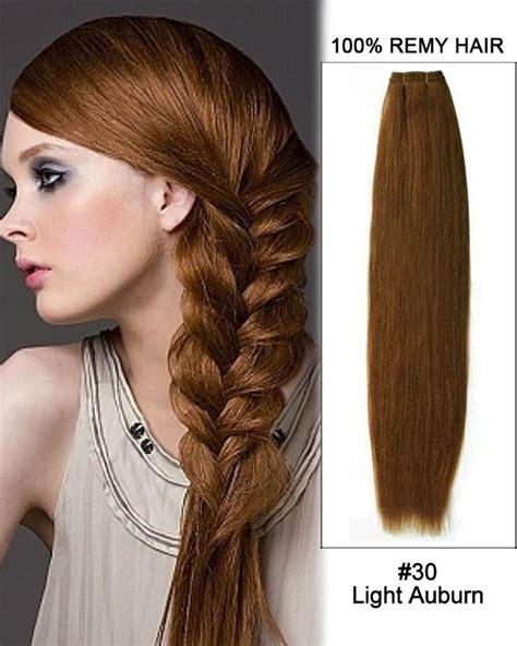auburn hair extensions 18 30 light auburn weave 100 remy hair weft