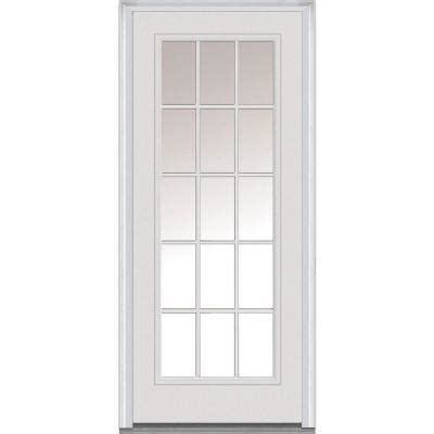 15 Light Exterior Door Milliken Millwork 36 In X 80 In Classic Clear Glass 15 Lite Primed White Fiberglass Smooth