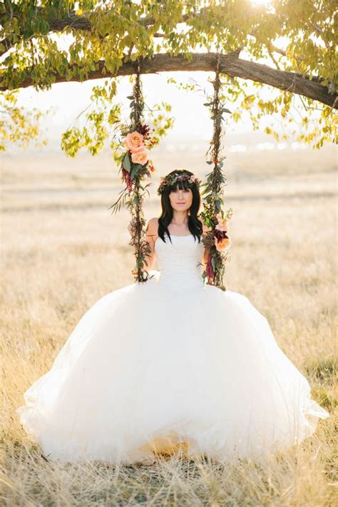 wedding swing 21 times we fell in love with the floral tree swing