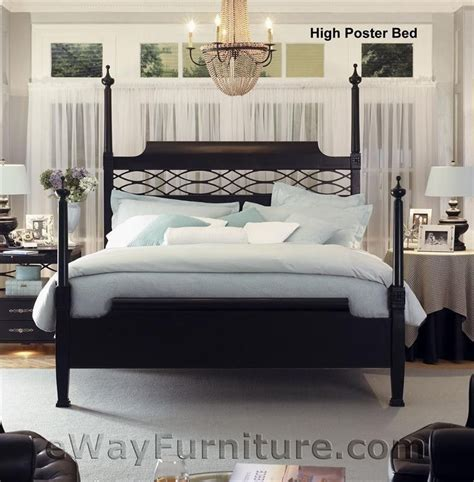king four poster bedroom sets new american federal king black wood four poster bed