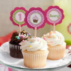cupcake decorations cupcake toppers cupcake theme birthday